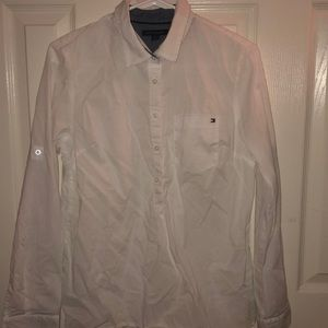 White Tommy Hilfiger Button Down